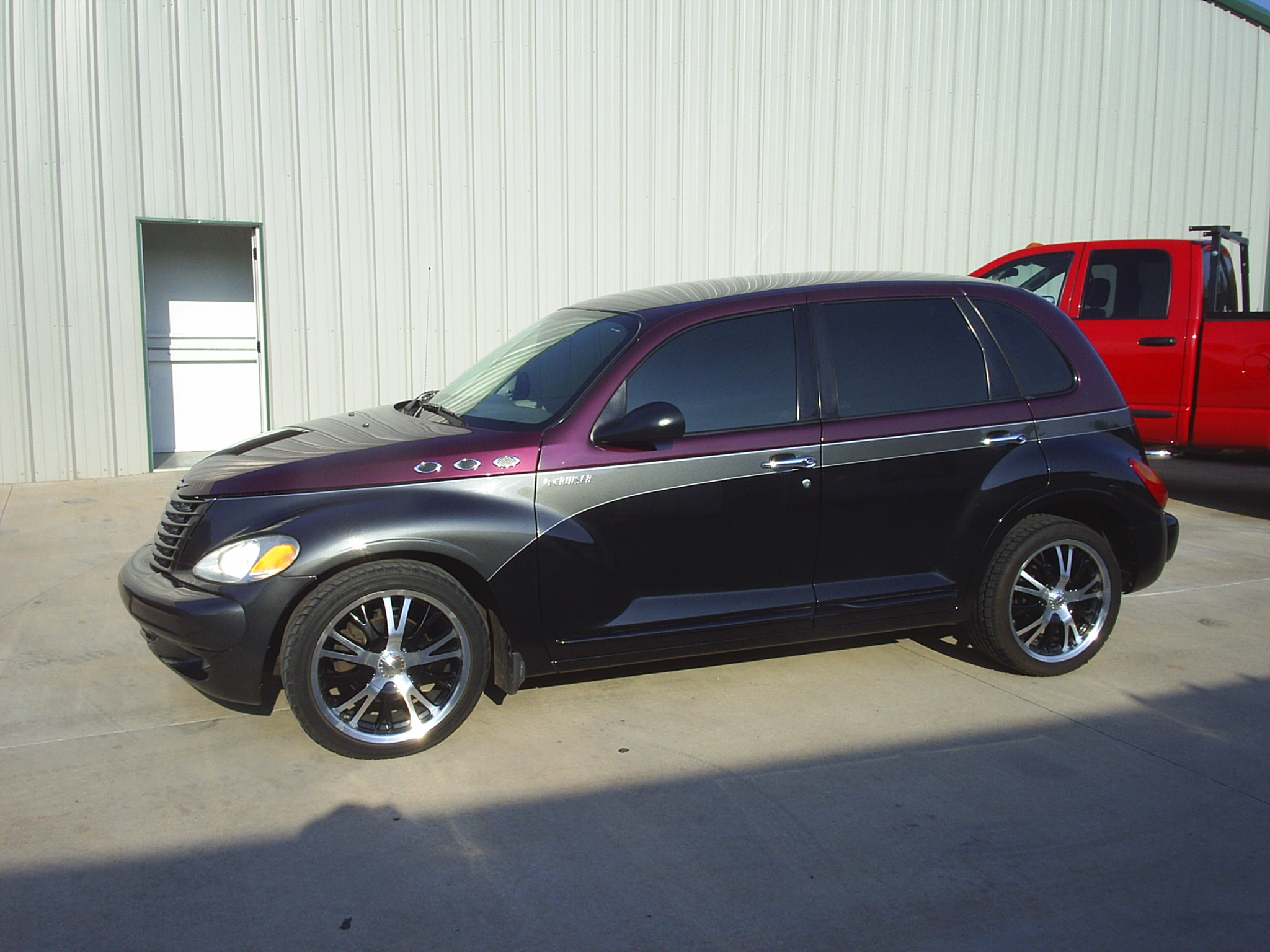 Custom two-tone PT Cruiser by Body Worx of Guthrie
